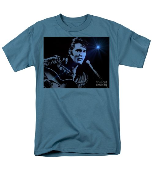 The King Rocks On Men's T-Shirt  (Regular Fit) by Al Bourassa