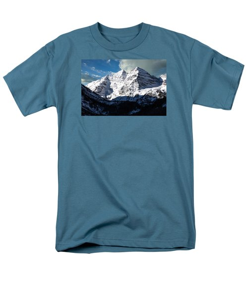 These Twin Peaks Outside Aspen Are Called The Maroon Bells  Men's T-Shirt  (Regular Fit) by Carol M Highsmith