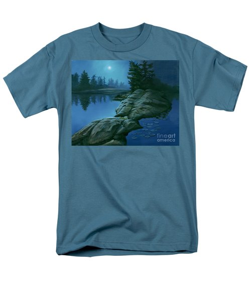 Men's T-Shirt  (Regular Fit) featuring the painting The Moonlight Hour by Michael Swanson