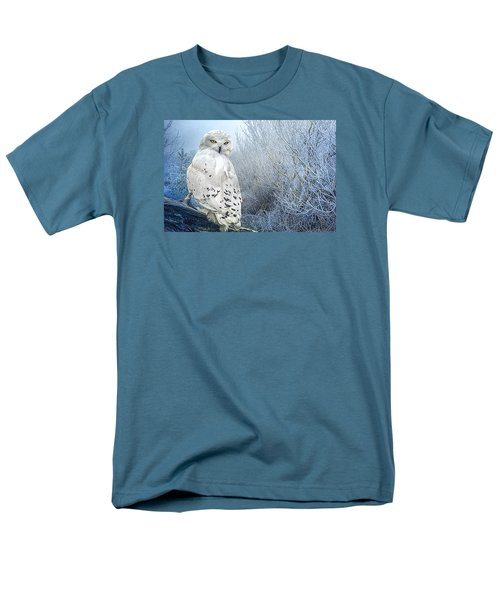 Men's T-Shirt  (Regular Fit) featuring the photograph The Mystical Snowy Owl by Brian Tarr