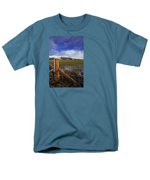 Men's T-Shirt  (Regular Fit) featuring the photograph The Ochils In Winter by Jeremy Lavender Photography