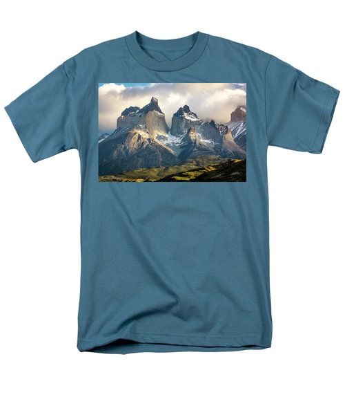 Men's T-Shirt  (Regular Fit) featuring the photograph The Peaks At Sunrise by Andrew Matwijec