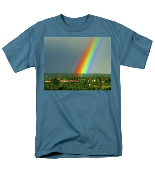 Men's T-Shirt  (Regular Fit) featuring the photograph The Rainbow Apartments by Ben Upham III