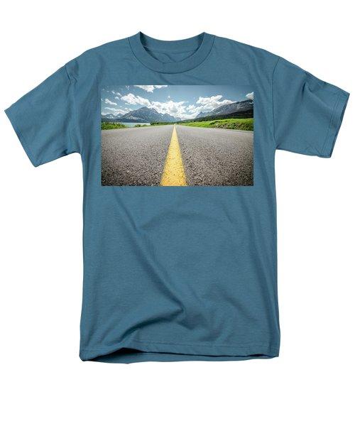 The Road To Glacier Men's T-Shirt  (Regular Fit)