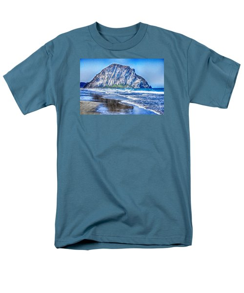 The Rock At Morro Bay Large Canvas Art, Canvas Print, Large Art, Large Wall Decor, Home Decor, Photo Men's T-Shirt  (Regular Fit) by David Millenheft