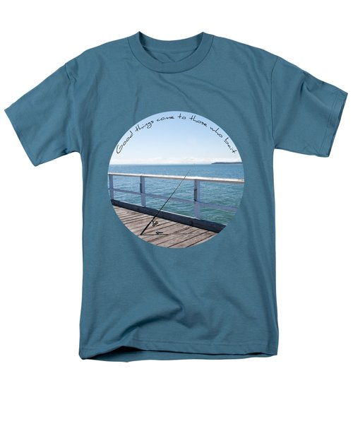 Men's T-Shirt  (Regular Fit) featuring the photograph The Rod by Linda Lees