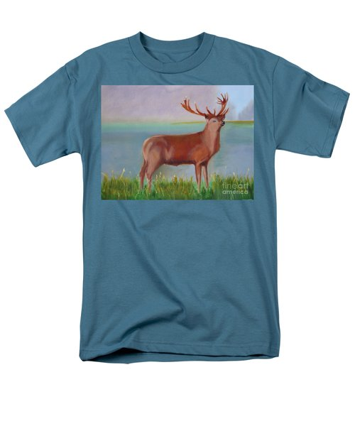 Men's T-Shirt  (Regular Fit) featuring the painting The Stag by Rod Jellison