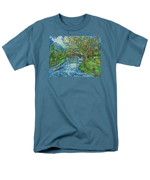 The Thames At Oxford Men's T-Shirt  (Regular Fit) by Anna Yurasovsky