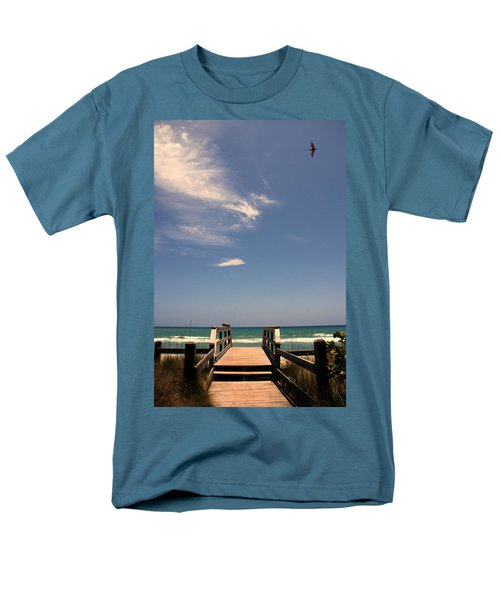 The Way Out To The Beach Men's T-Shirt  (Regular Fit)