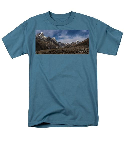 Men's T-Shirt  (Regular Fit) featuring the photograph Thokla Pass Nepal by Mike Reid