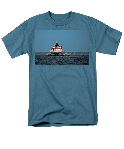 Thomas Point Shoal Light Men's T-Shirt  (Regular Fit) by Sally Weigand