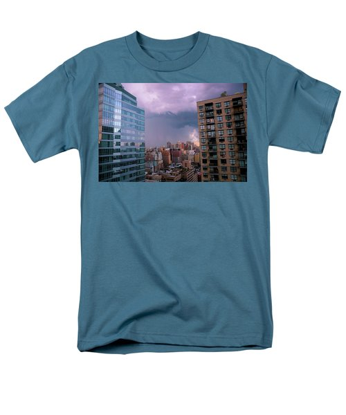 Men's T-Shirt  (Regular Fit) featuring the photograph Threatening Storm - Manhattan - 2016 by Madeline Ellis