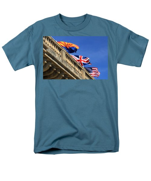 Three Flags At London Bridge Men's T-Shirt  (Regular Fit)