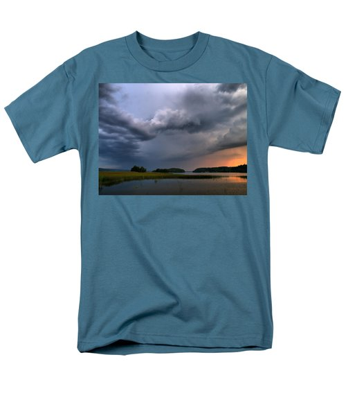Men's T-Shirt  (Regular Fit) featuring the photograph Thunder At Siuro by Jouko Lehto