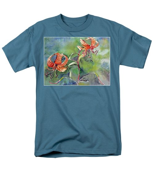Men's T-Shirt  (Regular Fit) featuring the painting Tiger Lilies by Mindy Newman
