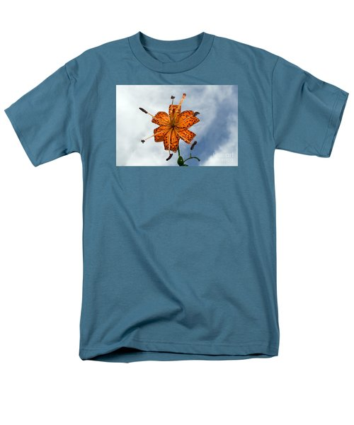 Tiger Lily In A Shower Men's T-Shirt  (Regular Fit) by Kevin Fortier