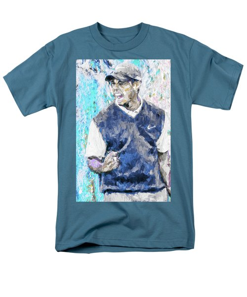 Men's T-Shirt  (Regular Fit) featuring the photograph Tiger Says 2 Painting Digital Golf by David Haskett
