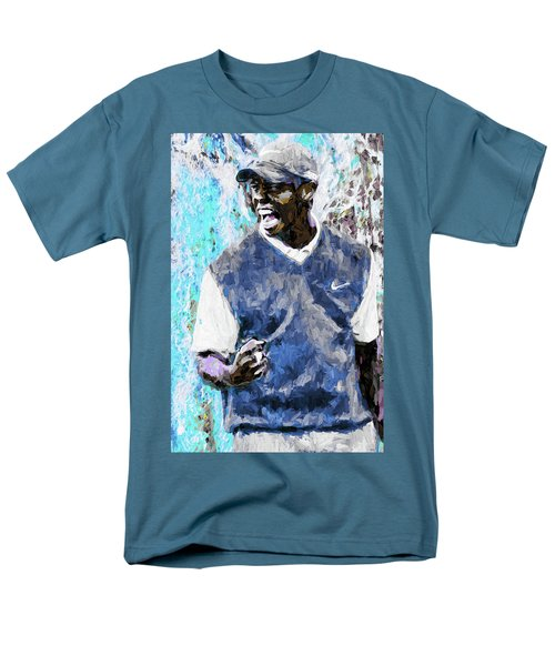 Men's T-Shirt  (Regular Fit) featuring the photograph Tiger Says Digital Painting Golf by David Haskett