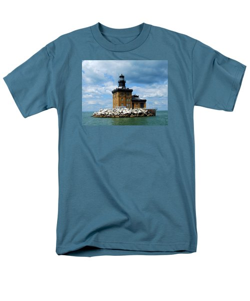 Men's T-Shirt  (Regular Fit) featuring the photograph Toledo Harbor Lighthouse by Michiale Schneider