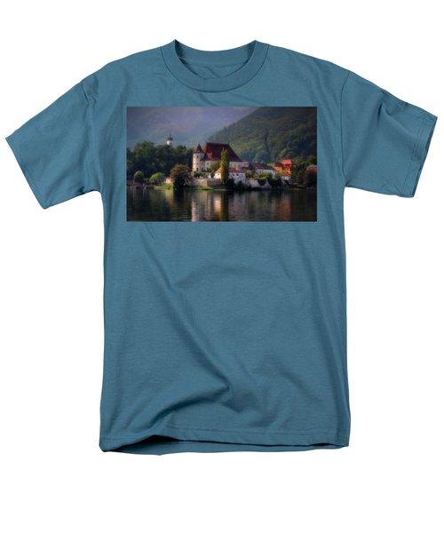 Men's T-Shirt  (Regular Fit) featuring the photograph Traunkirchen - Austria by Ellen Heaverlo