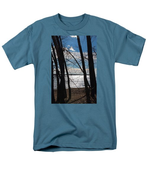 Men's T-Shirt  (Regular Fit) featuring the photograph Trees And Lake Reflections by Valentino Visentini