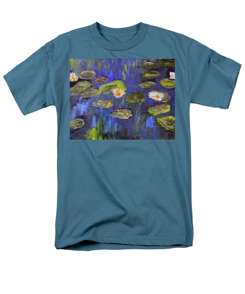Tribute To Monet Men's T-Shirt  (Regular Fit) by Michael Helfen