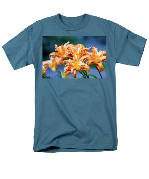 Men's T-Shirt  (Regular Fit) featuring the photograph Triple Lilies by Linda Segerson