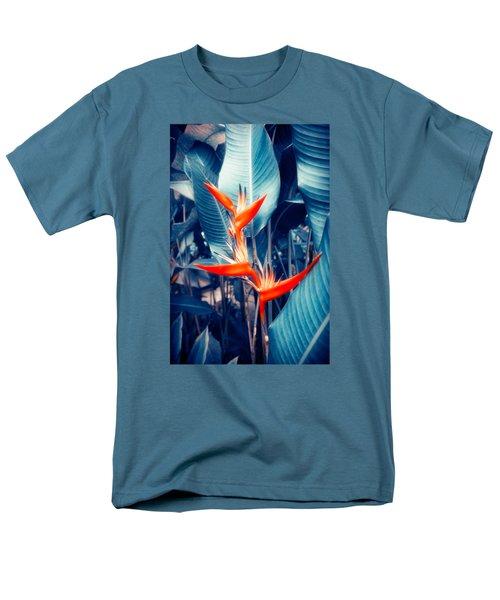 Tropical Parakeet Flower Men's T-Shirt  (Regular Fit) by Konstantin Sevostyanov