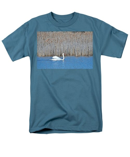Men's T-Shirt  (Regular Fit) featuring the photograph Trumpeter Swan 0967 by Michael Peychich
