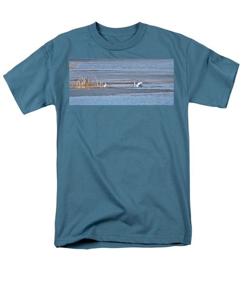 Men's T-Shirt  (Regular Fit) featuring the photograph Trumpeter Swans 0933 by Michael Peychich