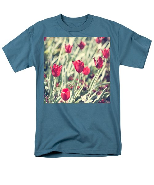 Men's T-Shirt  (Regular Fit) featuring the photograph Tulips In Red by Wade Brooks