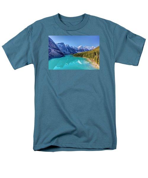 Turquoise Splendor Moraine Lake Men's T-Shirt  (Regular Fit) by Pierre Leclerc Photography