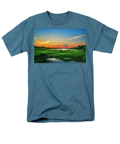 Men's T-Shirt  (Regular Fit) featuring the photograph Twilights Arrival by Marvin Spates