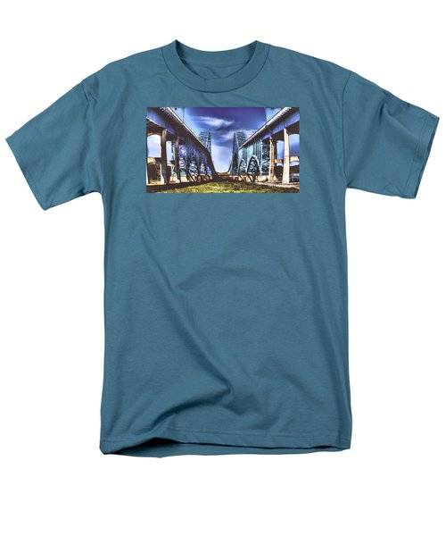 Men's T-Shirt  (Regular Fit) featuring the photograph Twin Spanned Arched by Jim Lepard