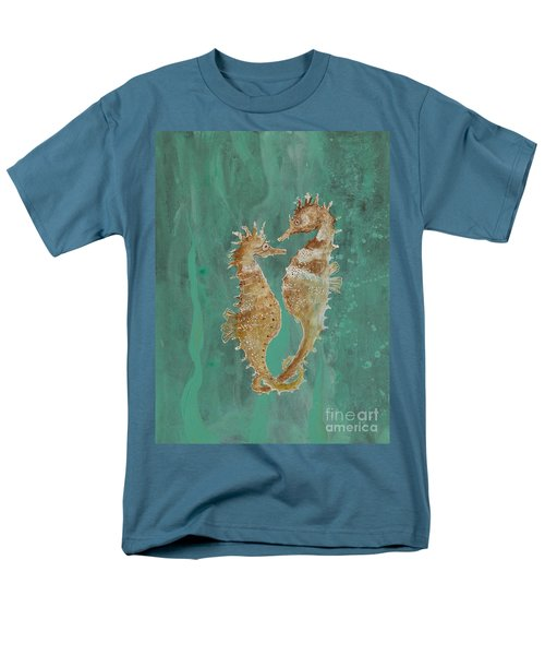 Two Seahorse Lovers Men's T-Shirt  (Regular Fit) by Robin Maria Pedrero