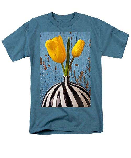 Two Yellow Tulips Men's T-Shirt  (Regular Fit) by Garry Gay