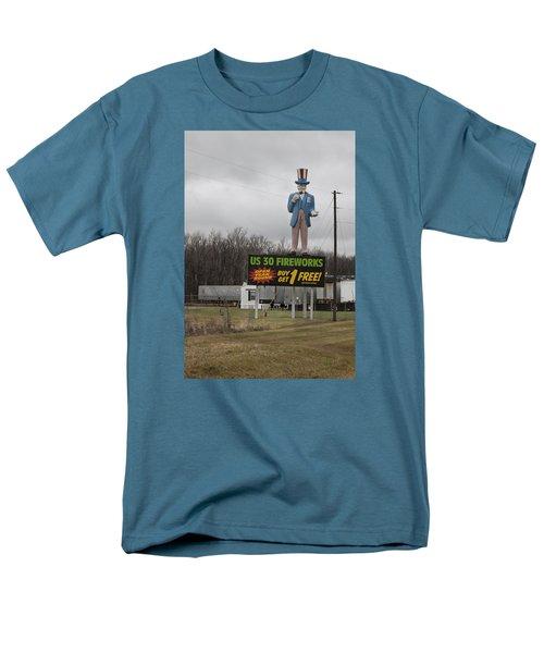 Uncle Sams Fireworks Men's T-Shirt  (Regular Fit) by Suzanne Gaff