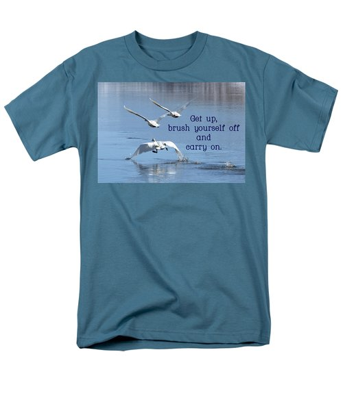 Up, Up And Away Carry On Men's T-Shirt  (Regular Fit) by DeeLon Merritt