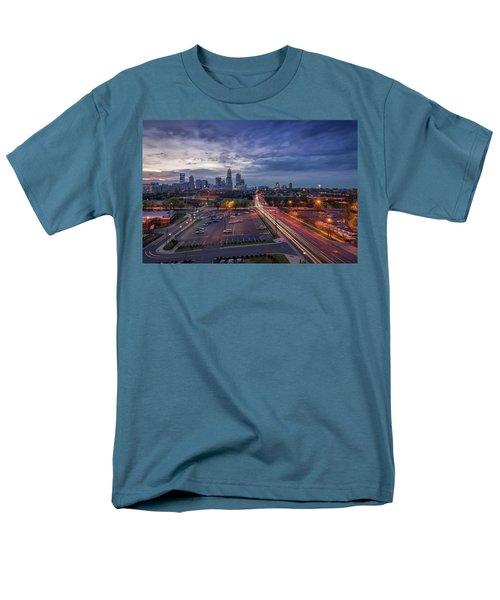 Uptown Charlotte Rush Hour Men's T-Shirt  (Regular Fit) by Serge Skiba