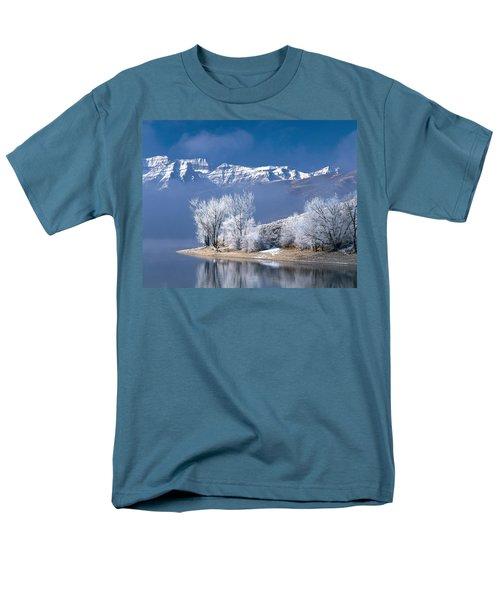Usa, Utah, Deer Creek State Park Men's T-Shirt  (Regular Fit) by Panoramic Images