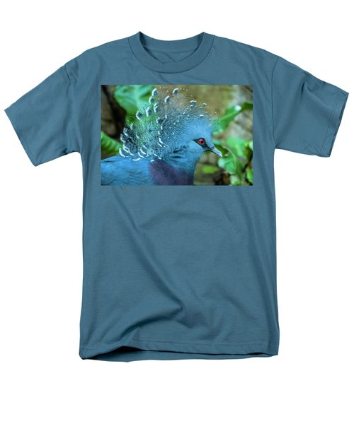 Victoria Crowned Pigeon Men's T-Shirt  (Regular Fit) by Daniel Hebard