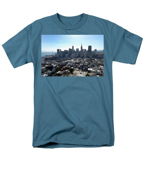 Men's T-Shirt  (Regular Fit) featuring the photograph View From Coit Tower by Steven Spak