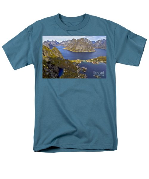 View From Reinebringen Men's T-Shirt  (Regular Fit) by Heiko Koehrer-Wagner