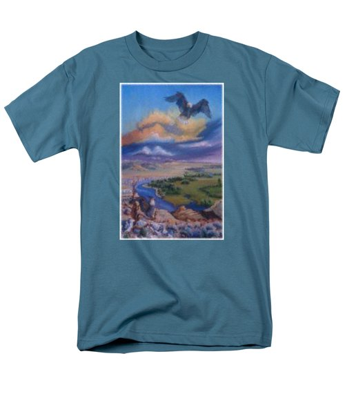Men's T-Shirt  (Regular Fit) featuring the painting View From Sheep Rock by Dawn Senior-Trask