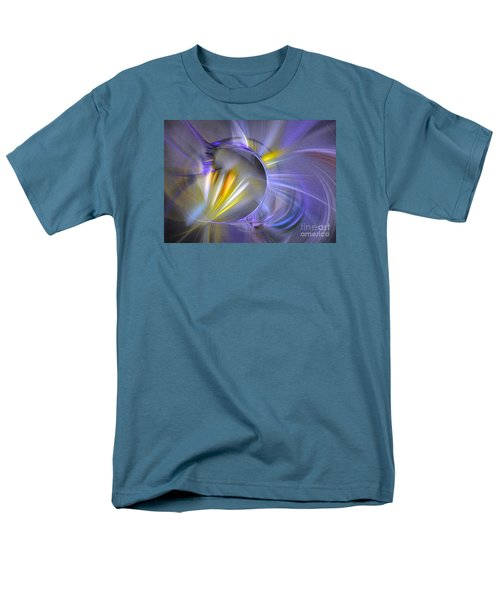 Men's T-Shirt  (Regular Fit) featuring the digital art Vigor - Abstract Art by Sipo Liimatainen