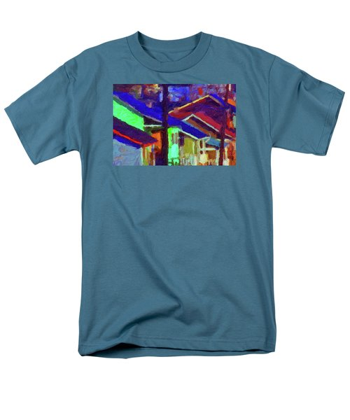 Men's T-Shirt  (Regular Fit) featuring the digital art Village Houses by Richard Farrington