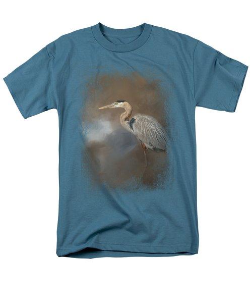 Walking Into Blue Men's T-Shirt  (Regular Fit)