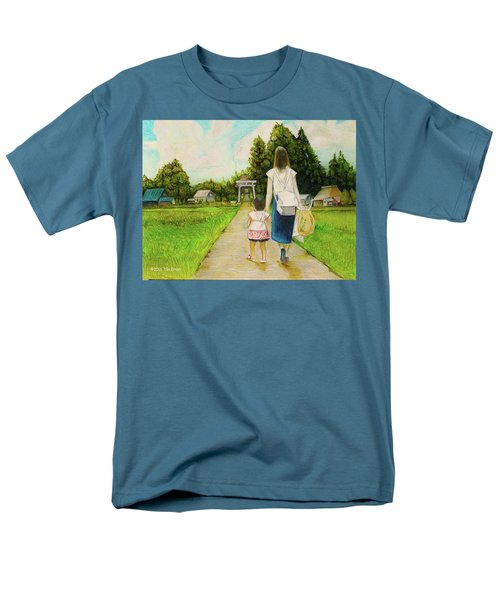 Men's T-Shirt  (Regular Fit) featuring the drawing Walking To The Shrine by Tim Ernst