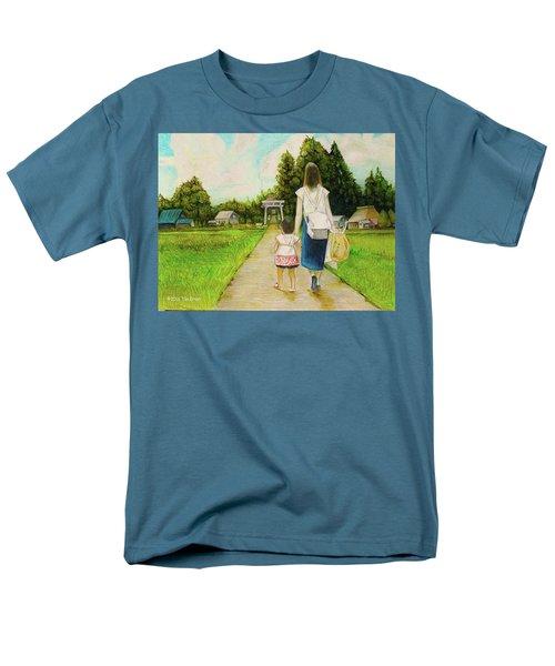 Walking To The Shrine Men's T-Shirt  (Regular Fit) by Tim Ernst