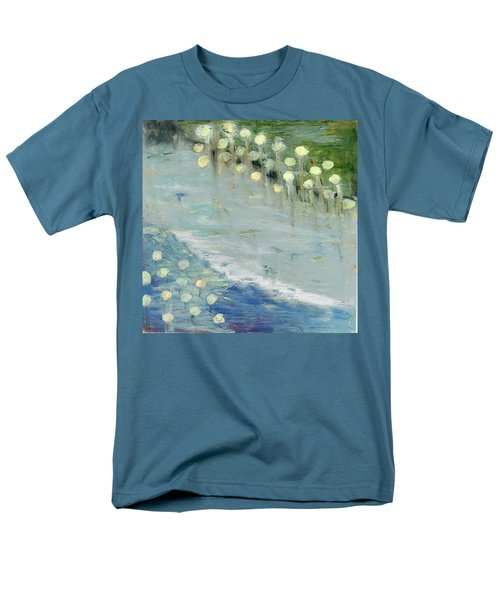 Men's T-Shirt  (Regular Fit) featuring the painting Water Lilies by Michal Mitak Mahgerefteh